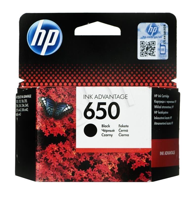 HP Tusz CZ101AE (oryginał HP650 HP 650; 6.5 ml; czarny)