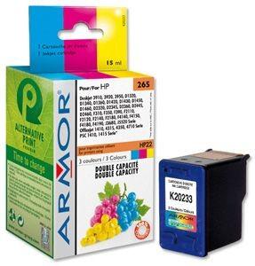 Armor cartridge pro HP DJ 3840 Color (C9352AE), HP 22, 17ml, 3 barvy