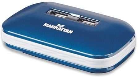 Manhattan 7 Ports Hi-Speed USB 2.0 Ultra Hub (Dual Power, Multiple Transaction Translator)