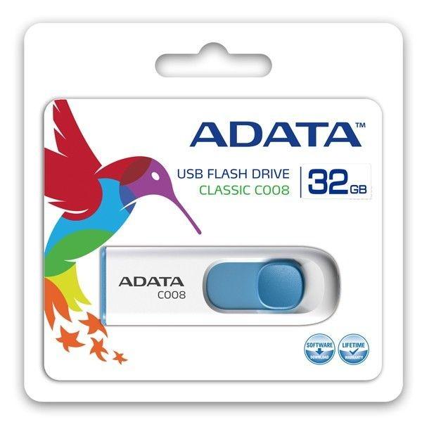 A-Data Adata pamięć USB C008 32GB USB 2.0 ( Biały+Niebieski )