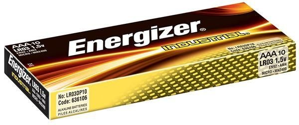 Energizer Bateria Industrial, AAA, LR03, 1,5V, 10szt.