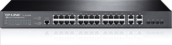 TP-Link TL-SL5428E Management Switch 24x10/100Mbps, 4xCombo Gigabit (RJ45/SFP)