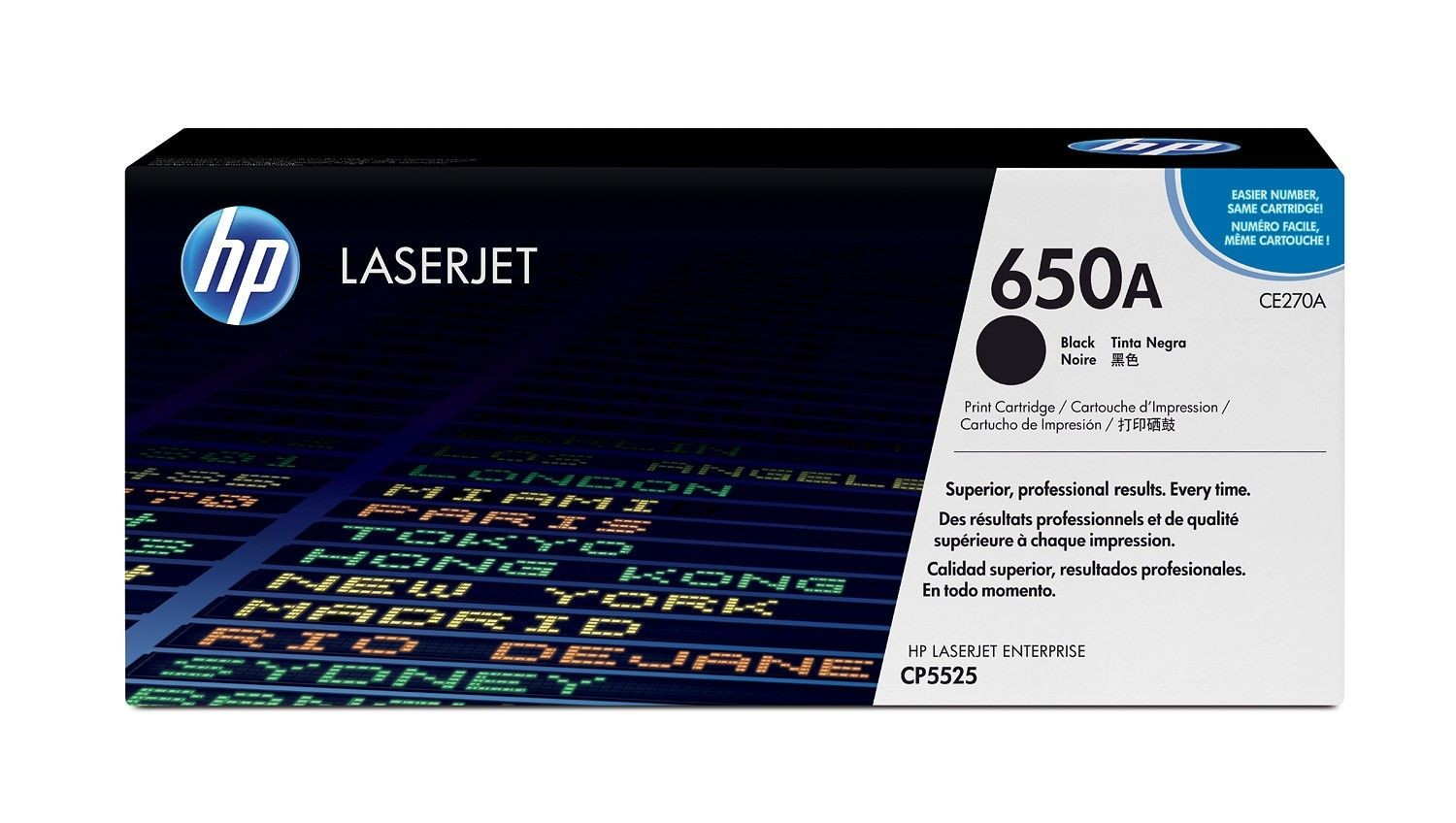 HP Color LaserJet CE270A Black Print Cartridge (13500str, LaserJet CP5525)