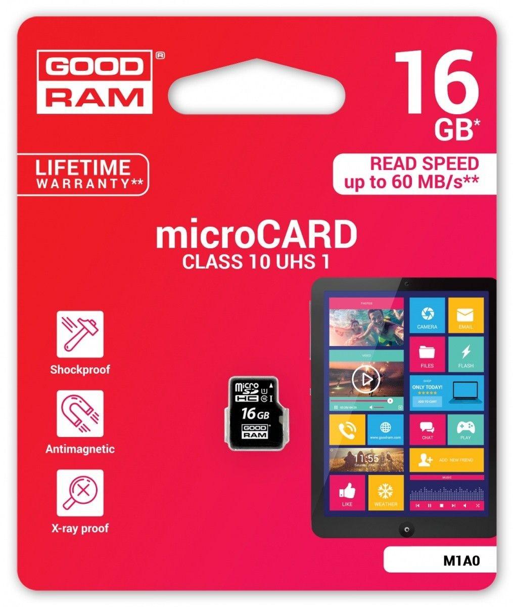 GoodRam Karta Pamięci Micro SDHC 16GB Class 10 UHS-I