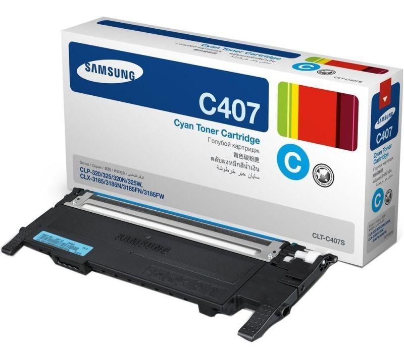 Samsung TONER CLT-C4072S DO DRUKAREK CLP-320/325/CLX-3185 KOLOR CYAN bez punktów asap /SAMSUNG