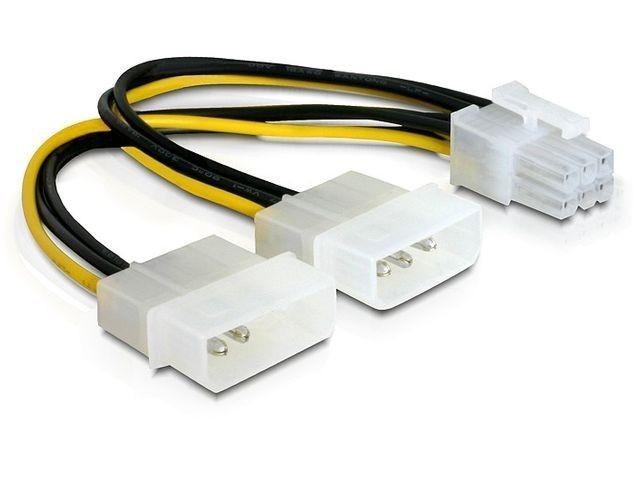 DeLOCK kabel rozdzielacz zasilania 2xHDD/1xPCI-E 6pin