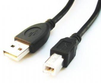 Gembird AM-BM kabel USB 2.0 3m black (niklowane końce)