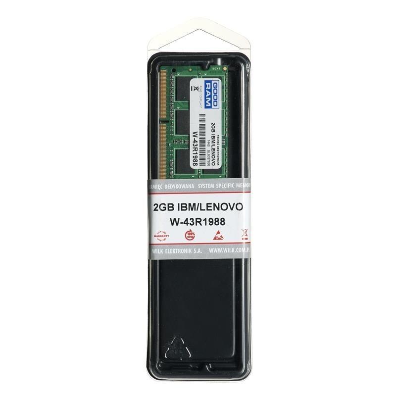 GoodRam W-43R1988 memory IBM/Lenovo 2GB PC3-8500