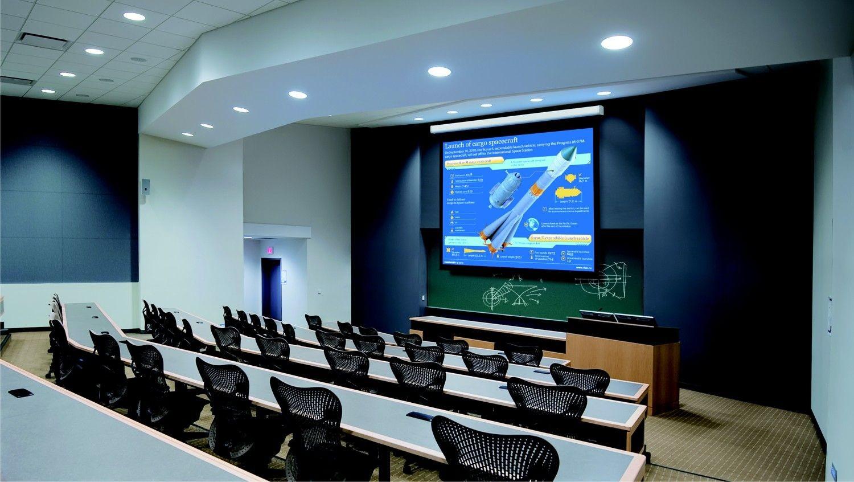 Suprema Ekran rozwijany elektrycznie LUPUS 203x203 cm MW HD 1:1, montaż ściana/sufit