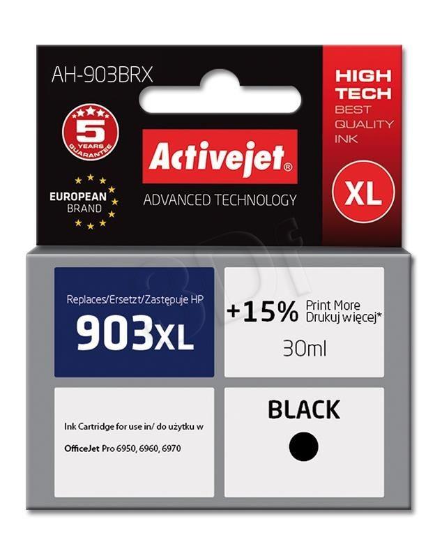 ActiveJet Tusz AH-903BRX (do drukarki Hewlett Packard zamiennik 903XL T6M15AE premium 30ml czarny Chip)