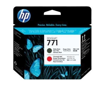 HP no.771 Matte Black/Chromatic Red Designjet Printhead
