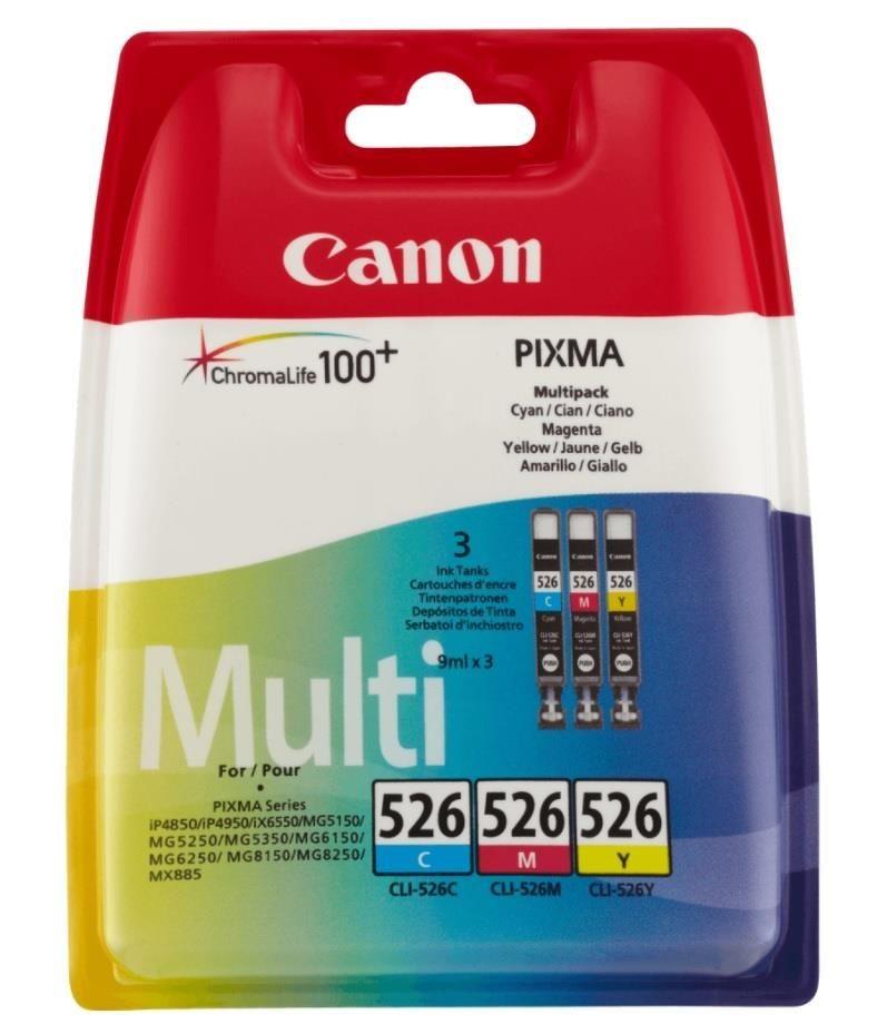 Canon tusz CLI526 C/M/Y Pack (MG5150/MG5250/MG6150/MG8150)
