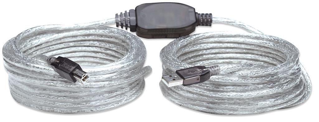Manhattan kabel USB 2.0 A-B M/M aktywny 11m