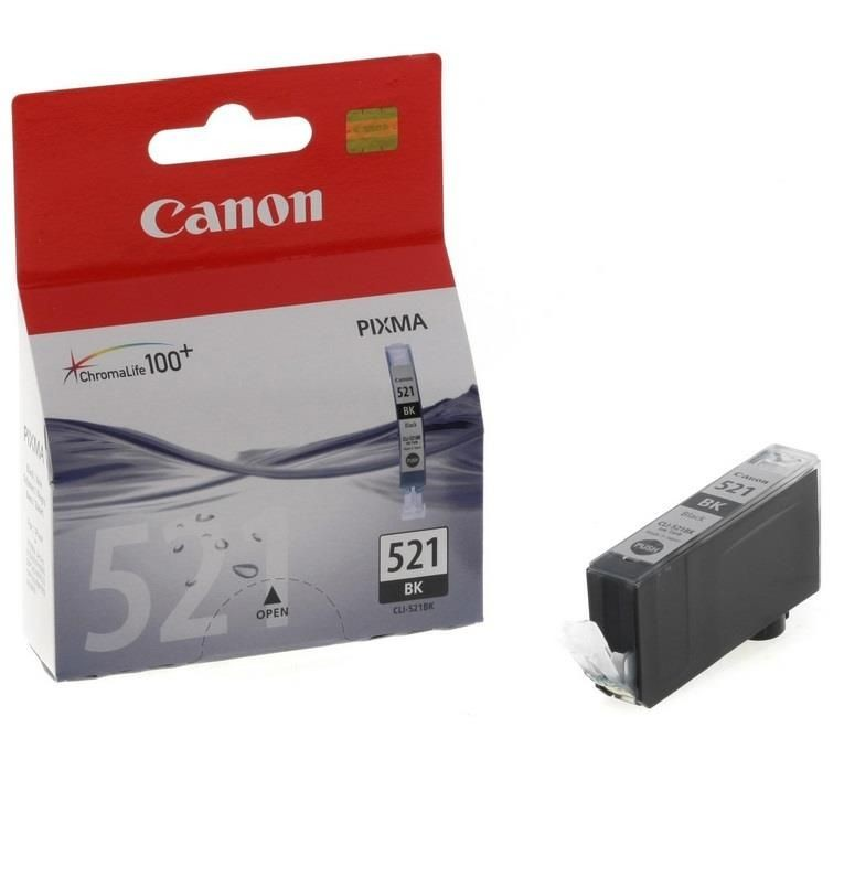 Canon tusz CLI521BK black BLISTER with security (iP3600/iP4600/MP540/MP620/MP630/MP980)