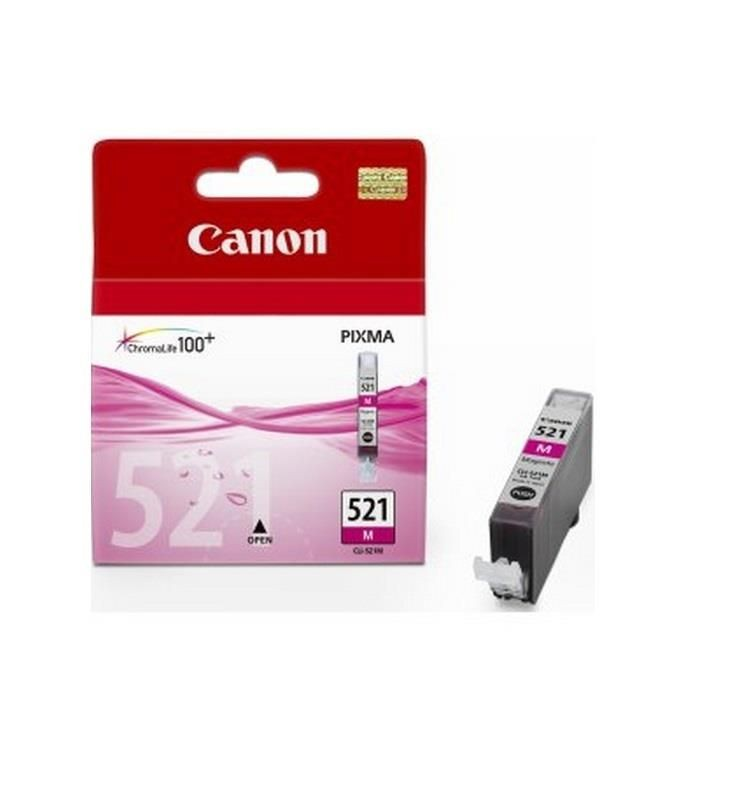 Canon tusz CLI521M magenta BLISTER with security (iP3600/iP4600/MP540/MP620/MP630/MP980)
