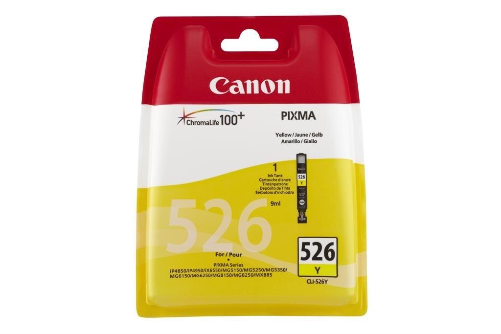 Canon wkład atramentowy CLI526 Y blister with Security