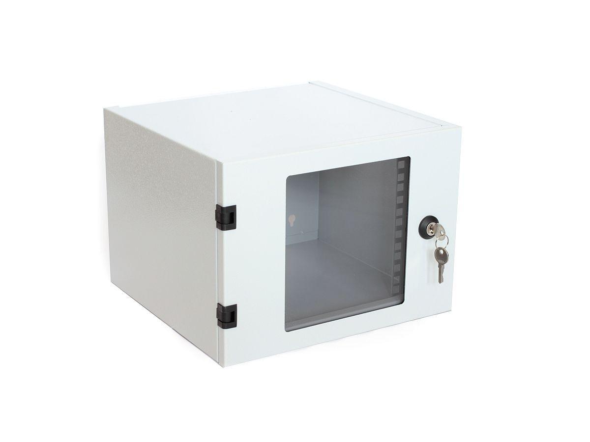 Assmann szafka wisząca 10'' 4U 315x232x300 (drzwi szklane, RAL7035)