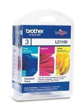 Brother Zestaw LC1100 CMY Blister Pack | 325str | MFC6490CW / DCP6690CW /MFC5895
