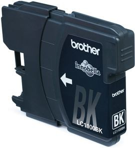 Brother Tusz LC1100BKBP2 black Blister Pack (dwupak) | 450str | DCP395CN/DCP58CW