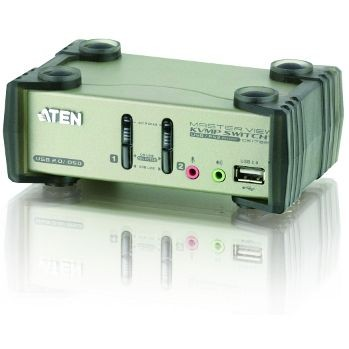 Aten CS1732B 2-Port USB 2.0 KVMP Switch OSD (2x USB Cables, 2-port Hub, Audio)