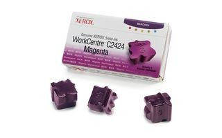 Xerox Kostki Solid Ink magenta x3 | 3 400str | WorkCentre C2424
