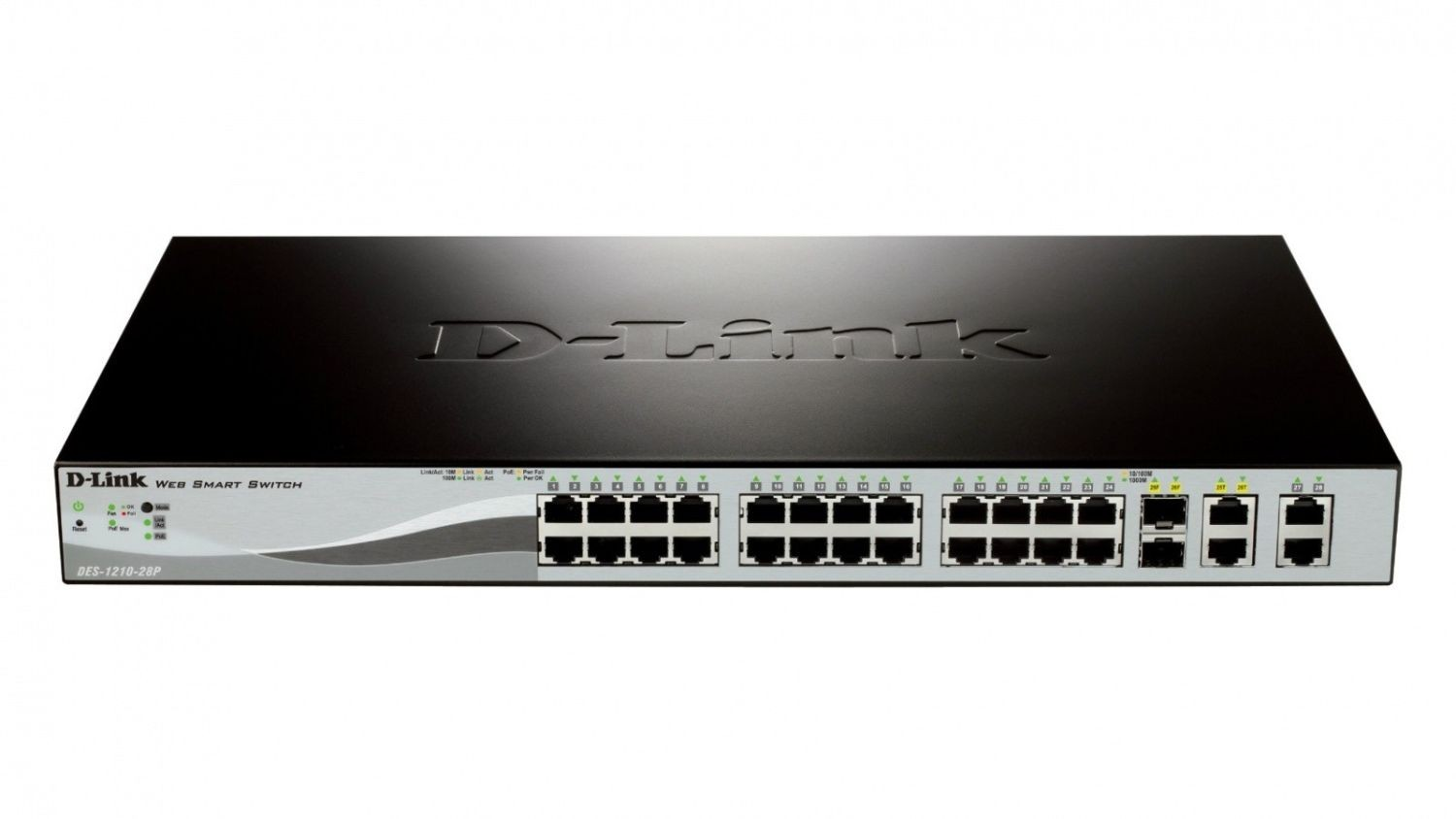 D-Link 24-port Fast Ethernet PoE/PoE+ Smart Switch