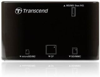 Transcend czytnik kart USB 2.0 Black (14w1) + Photo Recovery Tool