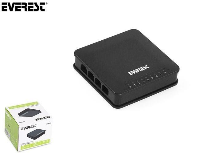 Everest Switch ESW-08B 8 Port 10/100Mbps Hub