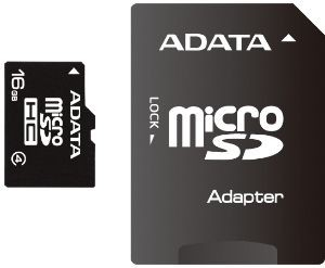 A-Data karta pamięci Micro SDHC 16GB CLASS 4 + SDHC Adapter