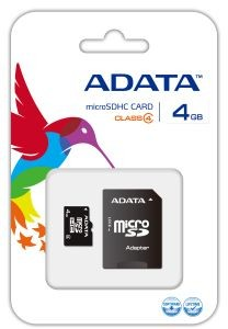 A-Data micro Secure Digital 4GB (Class 4) + adapter