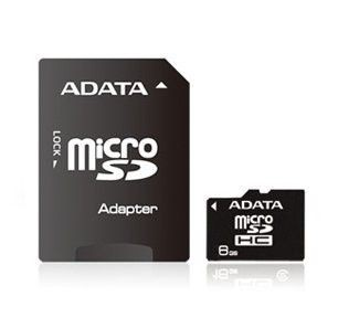 A-Data micro Secure Digital 8GB (Class 4) + adapter