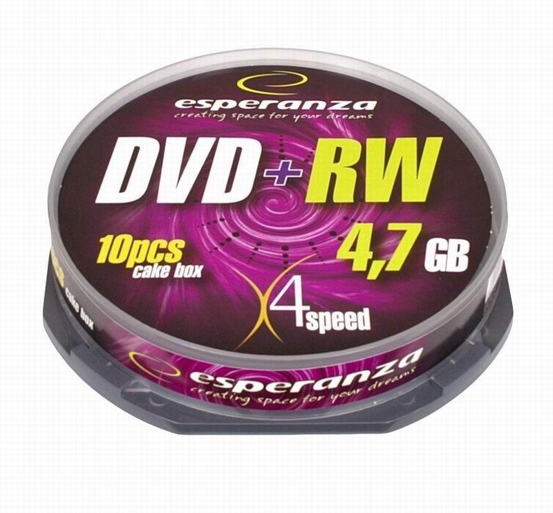 Esperanza DVD+RW 4,7GB x4 (cake box, 10szt)