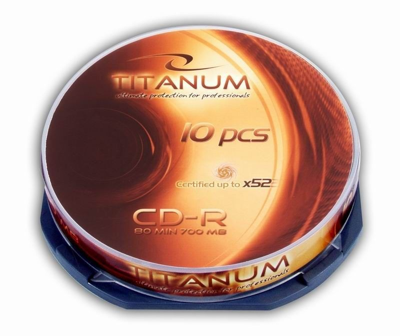 Titanum CD-R 700MB x56 - Cake Box 10