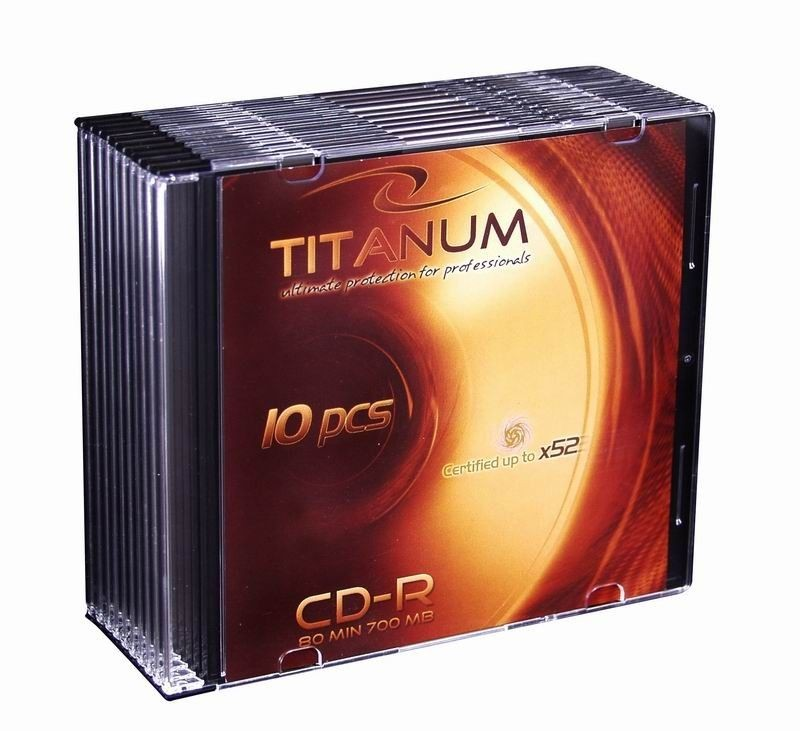 Titanum CD-R 700MB x56 (slim case, 10szt)