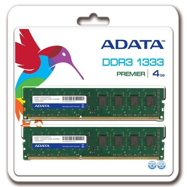 A-Data DDR3 2x2GB 1333MHz CL9