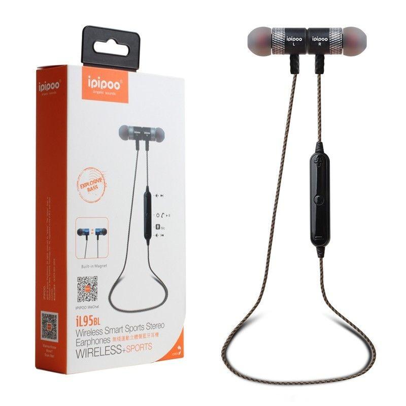 ipipoo iL95BL Czarne by AWEI douszne słuchawki bezprzewodowe Bluetooth 4.2