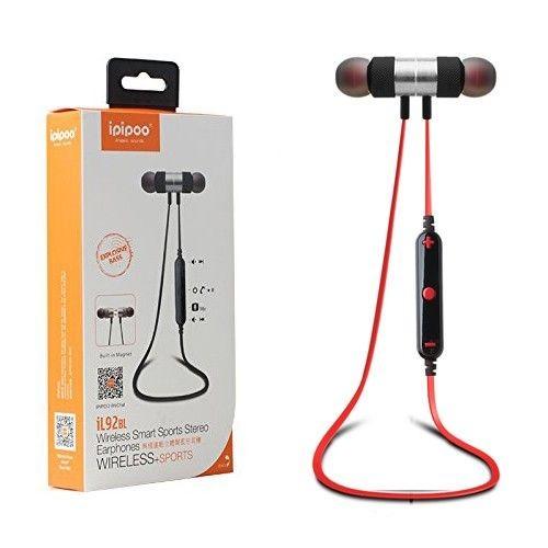 ipipoo iL92BL Czarno-czerwone by AWEI douszne słuchawki bezprzewodowe Bluetooth 4.2