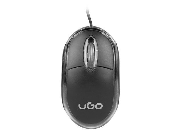 UGO Mysz optyczna SIMPLE 1000 DPI, czarna
