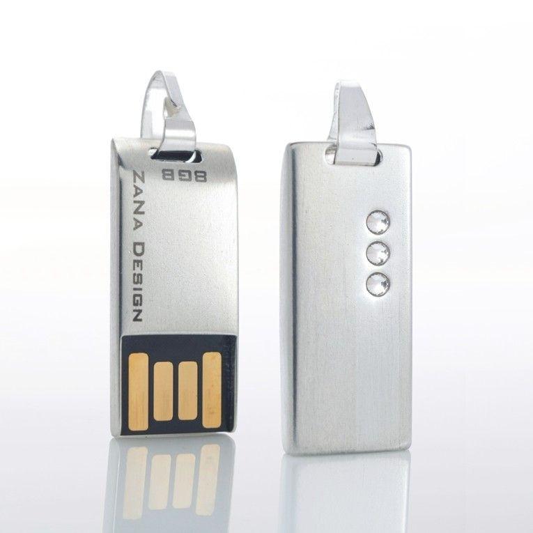 ZaNa Design Crystal 8GB Srebro Swarovski