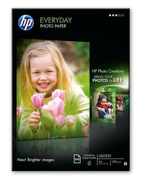 HP Papier foto do użytku na co dzień Lekko błyszczący 200g A4 100arkuszy Q2510A