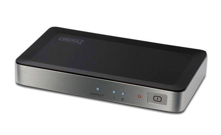 Digitus Rozdzielacz/Splitter HDMI 2-portowy, 1920x1080p, FHD 3D, HDCP1.1