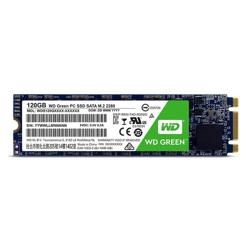 Western Digital Dysk WD Green SSD, M.2 SATA, 120GB, SATA/600, 3D NAND