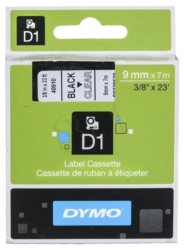 Dymo ETYKIETA D1 9mmx7m CZARNY/PRZEZ.S0720670