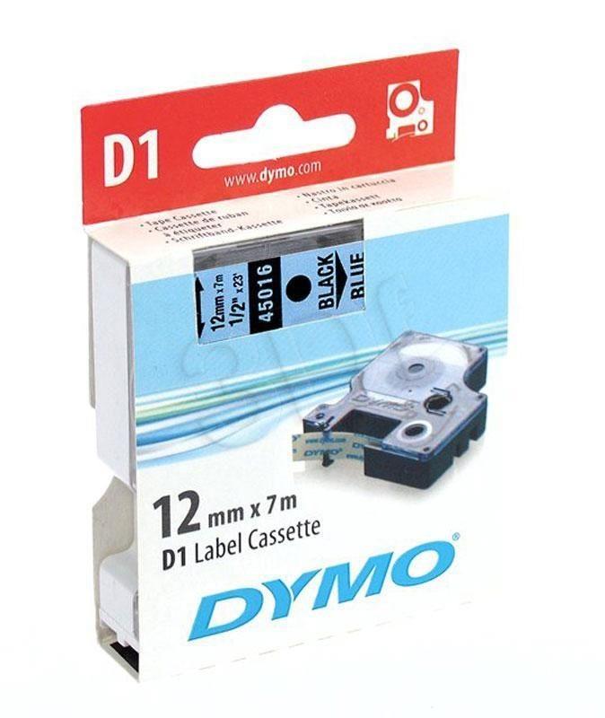 Dymo etykieta D1 12mmx7m (czarna/niebieska)