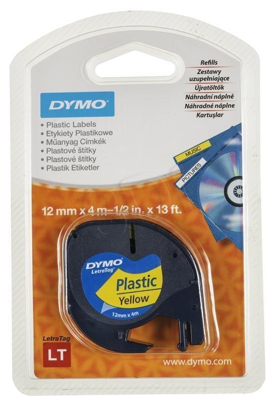 Dymo Taśma Dymo 12mm x4m czarny nadruk na żółtej taśmie 1szt.