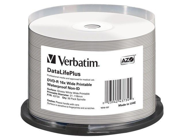 Verbatim DVD-R [ spindle 50 | 4.7GB | 16x | do nadruku wide glossy ]