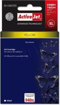 ActiveJet Tusz ActiveJet AH-940YRX | Yellow | 35 ml | Regenerowany | HP C4909AE HP 940XL