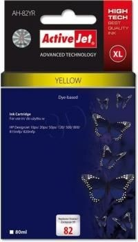 ActiveJet Tusz ActiveJet AH-82YR yellow | HP C4913A HP 82