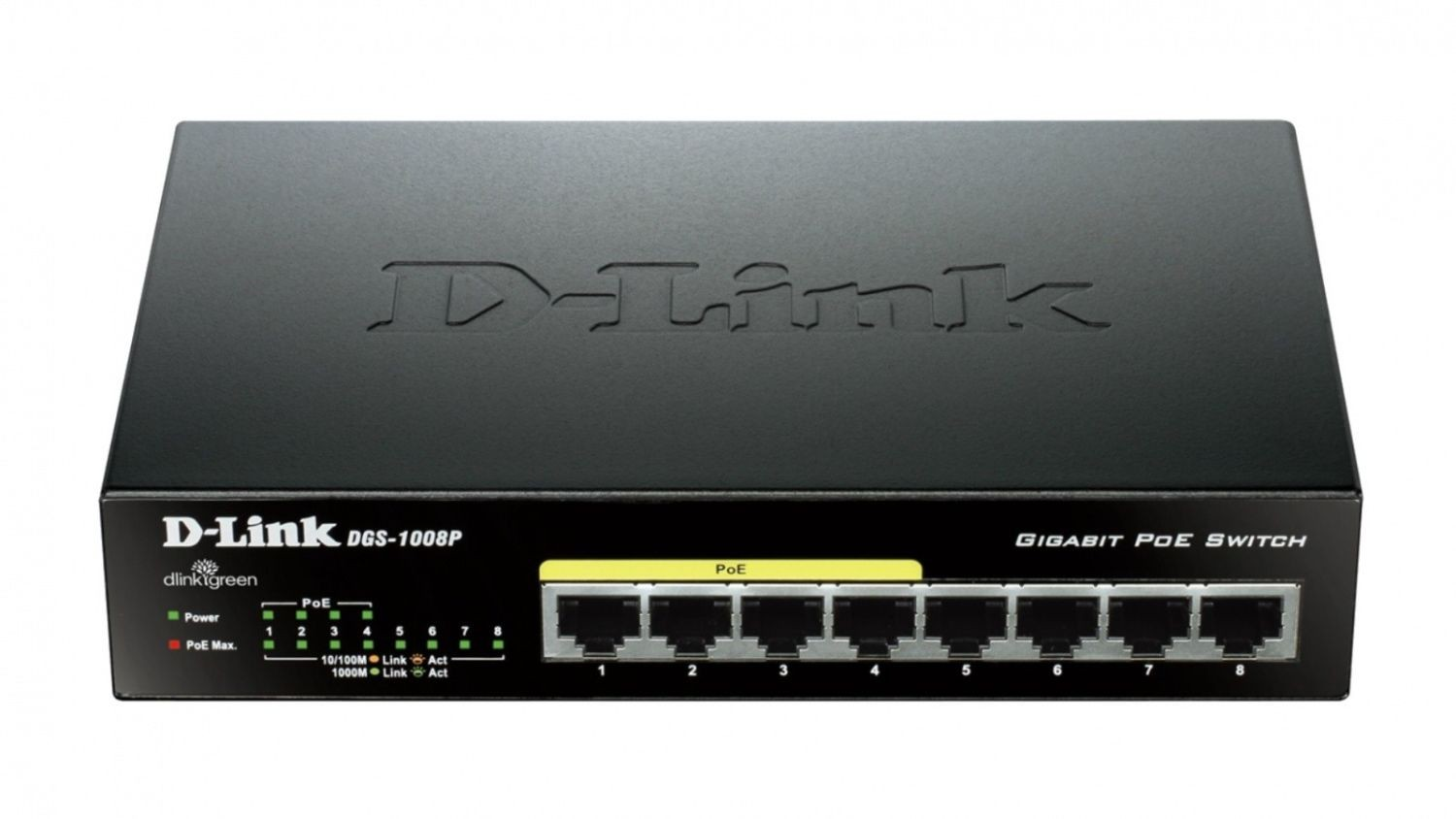 D-Link 8-port 10/100/1000 Desktop Switch w/ 4 PoE Ports