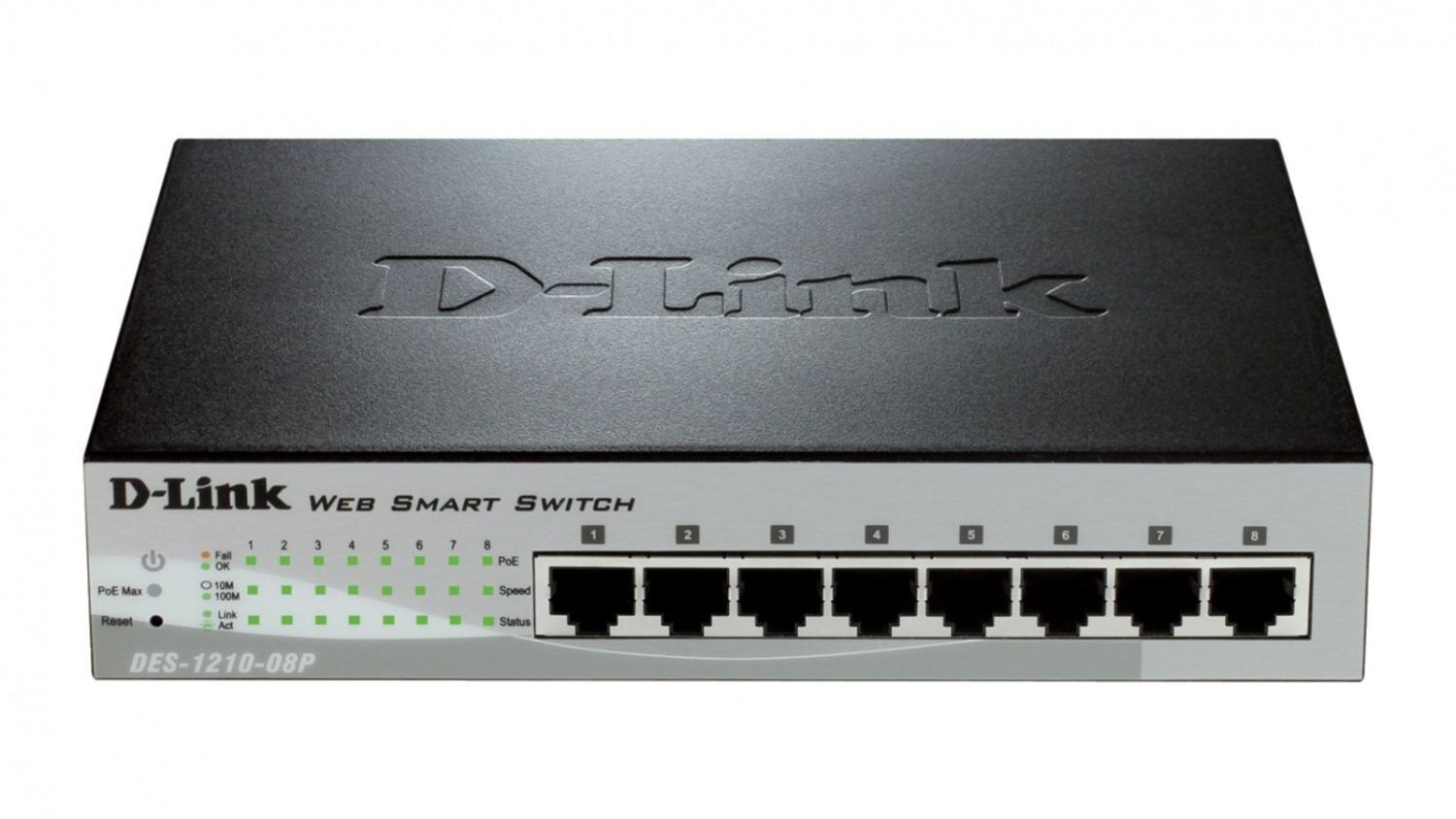 D-Link DES-1210-08P 8-port Fast Ethernet PoE Smart Switch